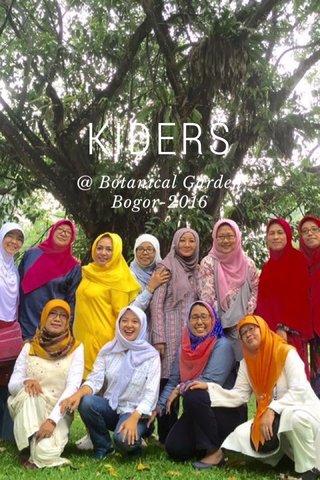 KIDERS @ Botanical Garden Bogor-2016