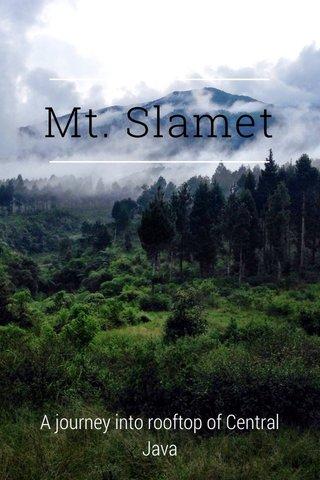 Mt. Slamet A journey into rooftop of Central Java
