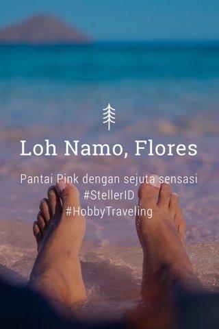 Loh Namo, Flores Pantai Pink dengan sejuta sensasi #StellerID #HobbyTraveling