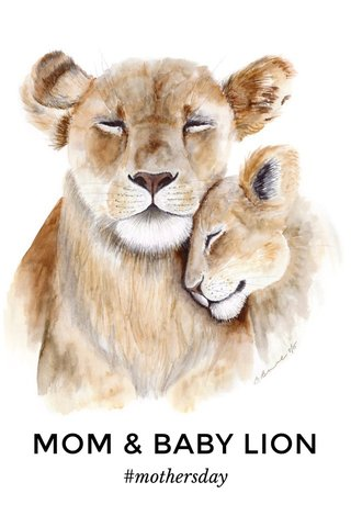 MOM & BABY LION #mothersday
