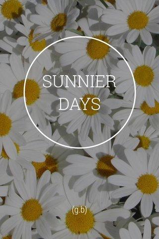 SUNNIER DAYS (g.b)