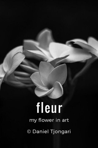 fleur my flower in art © Daniel Tjongari