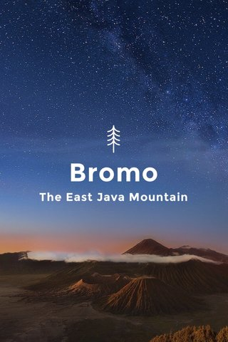 Bromo The East Java Mountain