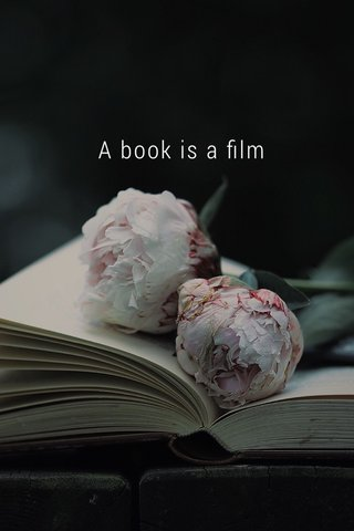 A book is a film