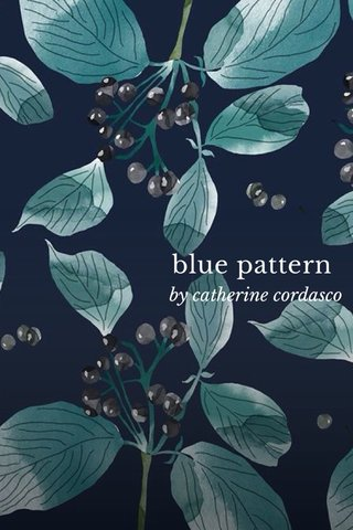 blue pattern by catherine cordasco