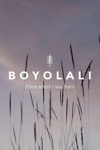 BOYOLALI Place where I was born