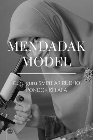 MENDADAK MODEL Guru guru SMPIT AR RUDHO PONDOK KELAPA