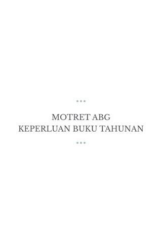MOTRET ABG KEPERLUAN BUKU TAHUNAN