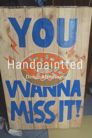 Handpaintted Donat Manalagie