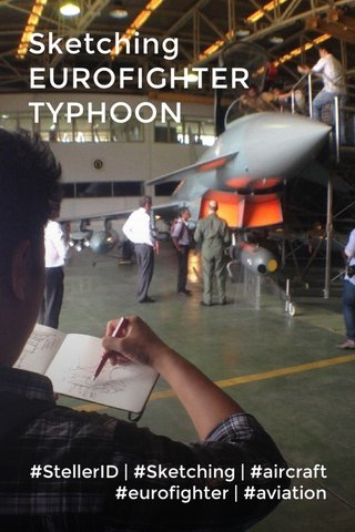 Sketching EUROFIGHTER TYPHOON #StellerID | #Sketching | #aircraft #eurofighter | #aviation