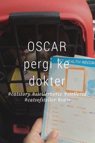 OSCAR pergi ke dokter #catstory #stellerverse #stellerid #catsofsteller #cats