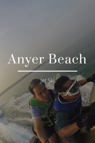 Anyer Beach Jet Ski