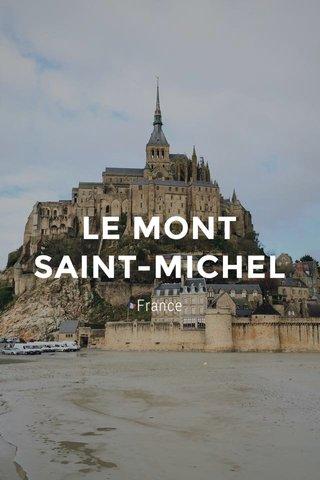 LE MONT SAINT-MICHEL France