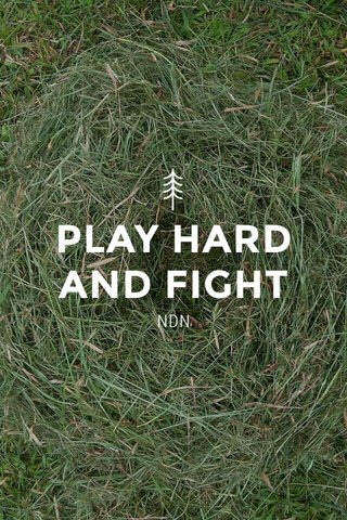 PLAY HARD AND FIGHT NDN