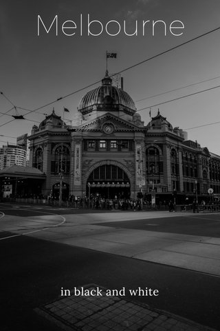 Melbourne in black and white