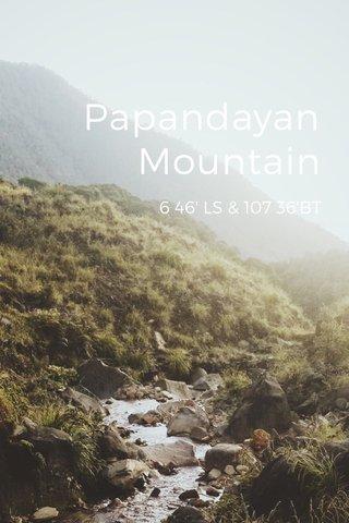 Papandayan Mountain 6 46' LS & 107 36'BT
