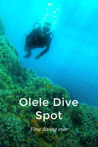 Olele Dive Spot First diving ever