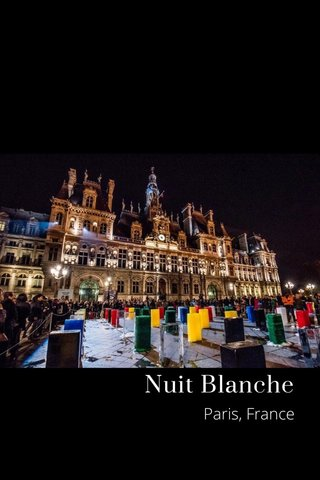 Nuit Blanche Paris, France