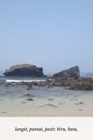 langit, pantai, pasir, biru, batu,