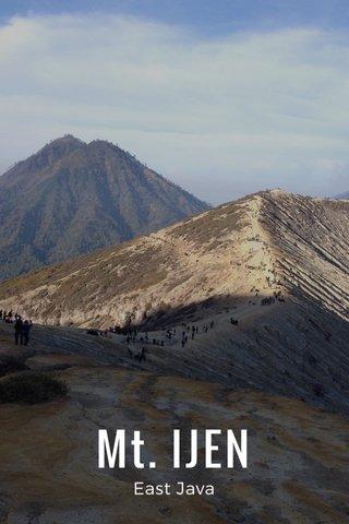 Mt. IJEN East Java