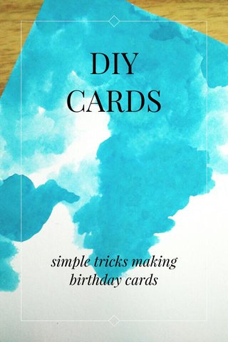 DIY CARDS simple tricks making birthday cards