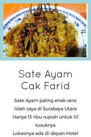 Sate Ayam Cak Farid