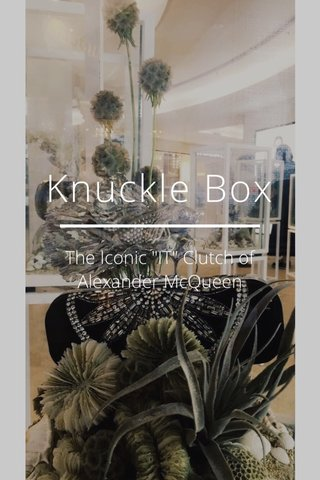 """Knuckle Box The Iconic """"IT"""" Clutch of Alexander McQueen"""