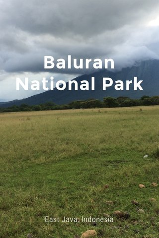 Baluran National Park East Java, Indonesia