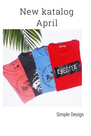 New katalog April Simple Design