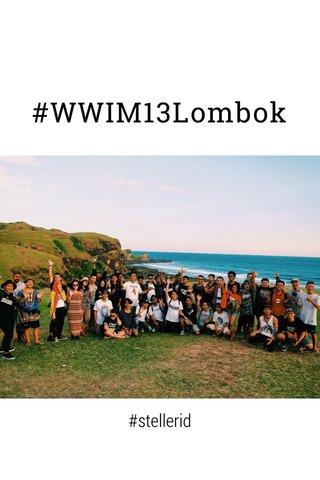 #WWIM13Lombok #stellerid