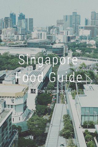 Singapore Food Guide Just follow your appetite!