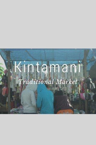 Kintamani Traditional Market