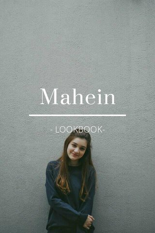 Mahein - LOOKBOOK-