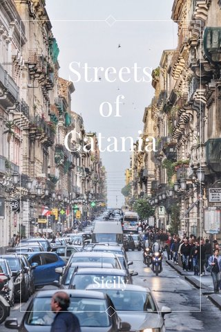 Streets of Catania Sicily