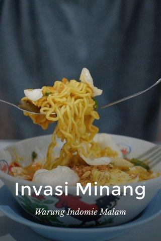 Invasi Minang Warung Indomie Malam
