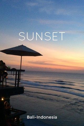 SUNSET Bali-Indonesia