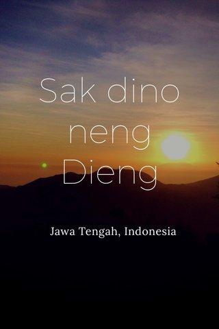 Sak dino neng Dieng Jawa Tengah, Indonesia