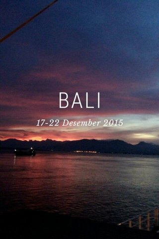 BALI 17-22 Desember 2015