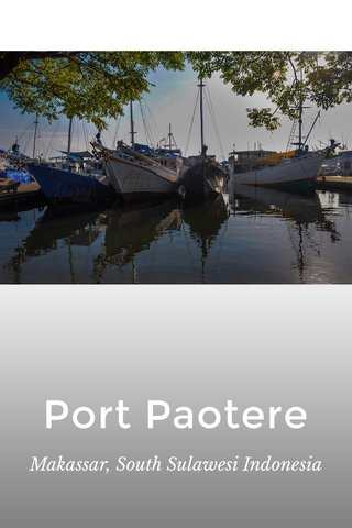 Port Paotere Makassar, South Sulawesi Indonesia