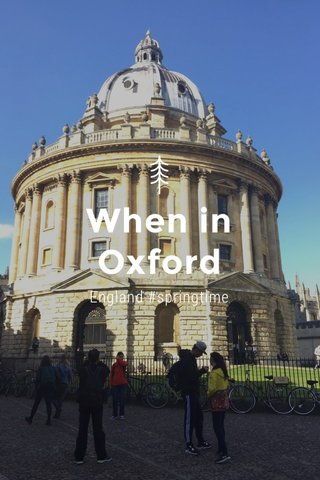When in Oxford England #springtime