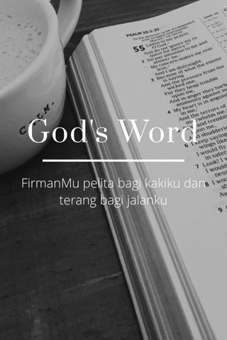 God's Word FirmanMu pelita bagi kakiku dan terang bagi jalanku