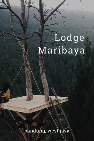 Lodge Maribaya bandung, west java