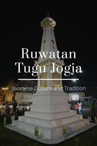 Ruwatan Tugu Jogja Javanese Culture and Tradition