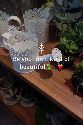 Be your own kind of beautiful🍃🗝❤️