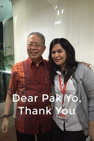 Dear Pak Yo, Thank You