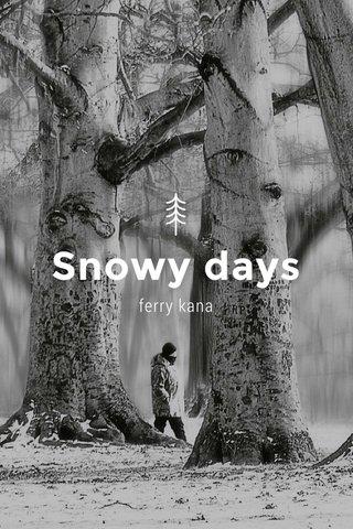 Snowy days ferry kana