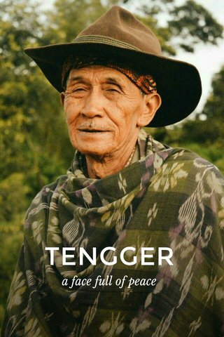 TENGGER a face full of peace