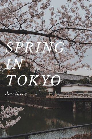 SPRING IN TOKYO day three