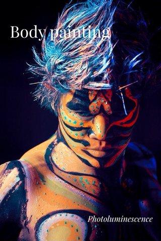 Body painting Photoluminescence