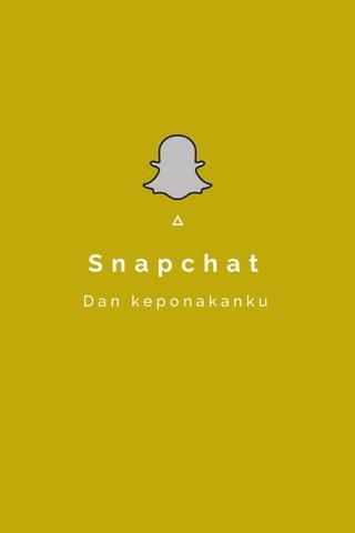 Snapchat Dan keponakanku